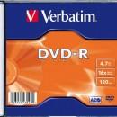 Verbatim DVD-R 16X 4,7GB   Slim Case