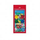 Acuarela 12 culori, 30 mm + pensula, FABER-CASTELL