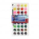 Acuarele cu Pensula DACO, 36 Culori Pigment, D 23 mm