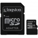 Card de memorie Kingston MicroSDHC Canvas Select, 16GB, 80R, Class 10, UHS-I + Adaptor