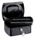 Caseta- cutie metalica pentru bani, 255 x 200 x 90 mm, tavita monezi, ALCO