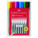 Liner 0.4mm grip 10/set Faber-Castell