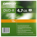 Omega DVD+R, 16X, 4.7Gb, carcasa slim, 10 buc/set