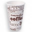 Pahare Carton 355 ml, model Cafea 50buc/set
