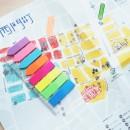 "Stick index plastic transp. color 45 x 12 mm, 8 x 25 file/set + index sageata, Stick""n-8 culori neon"