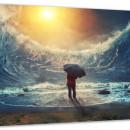 Tablou Canvas cu cristale Active, Luminos In Intuneric 300 X 450 mm, model Future