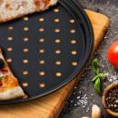 Tava perforata de pizza Vanora 28 X 1.4 cm, otel carbon