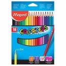 Creioane colorate 18 culori Maped