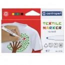 Markere pentru textile 6 culori/set CENTROPEN 2739