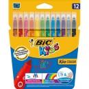Markere Bic colorate ultralavabile Kid Couleur 12 buc/set