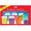 Guase 6 Culori 15 Ml Fluorescente Faber-Castell