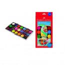 Acuarela 21 culori, 30 mm + pensula FABER-CASTELL