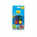 Acuarela 8 culori, 24 mm + pensula, ADEL