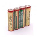 Baterii zinc carbon Toshiba, AA, 4 bucati/set
