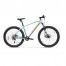 "Bicicleta Pegas MTB Fat Bike Drumuri Grele Aluminiu 18.5"", Anvelope: 27.5 X 3.0, Bleu/Portocaliu"