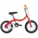 Bicicleta pentru copii 3-5 ani, Pegas Soim EV roti 12 inchi, 2 in 1, Rosu