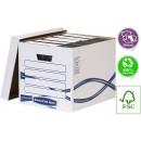Container arhivare bibliorafturi Bankerrs Box Fellowes cu capac 330 x 340 x 426 mm
