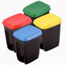 Cos gunoi cu pedala , 17 litri, culori selectiv