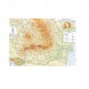 Harta ROMANIA fizica 140x100 cm, ISBN: 973-8476-11-9 AMCO plastifiat