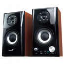 Sistem Boxe Genius SP-HF500A, 2.0, RMS: 14W, Black & Cherry Wood