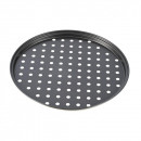 Tava perforata de pizza Vanora 26 X 1.4 cm, otel carbon