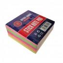 Notes adeziv 75x75 mm, 400 file, 5 culori neon B4U