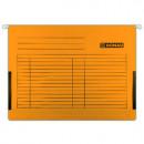 Dosar suspendabil cu burduf si eticheta, bagheta metalica, DONAU - orange