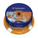 DVD-R VERBATIM 16x, 4.7GB, Printabil, 25buc - Spindle