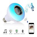 Bec led Smart cu difuzor 12W, dulie E27 Bluetooth, telecomanda