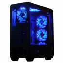 Carcasa Gaming Middle Tower, ATX cu 6 coolere, SPACER SP-GC-04