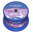 DVD+R VERBATIM 4.7GB, 120min, viteza 16x, 50 buc, Single Layer, spindle