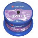 DVD+R VERBATIM 4.7GB, 120min, viteza 16x, 50 buc, Single Layer, spindle