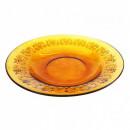 Farfurie adanca rotunda din sticla transparenta Vermeil 20x4cm