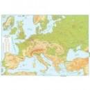 Harta EUROPA fizica 70x50cm AMCO plastifiat