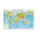 Harta fizica a Lumii 70x50 cm, AMCO plastifiat