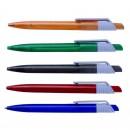 Pix plastic transparent color cu mecanism si mina X20 Ideal personalizat firme