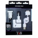 SET incaractor IPHONE TnB 3-IN-1 RECHARGE PACK