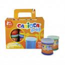 Tempera lavabila Carioca Finger Baby 2+, 80 ml x 6 buc/set