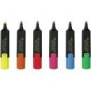 Textmarker 1548 Faber-Castell 1-5mm Rosu, Roz,Albastru, Verde, Galben, Portocaliu