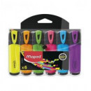 Textmarker Maped Fluo'Peps Classic, 6 culori