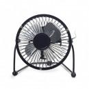 Ventilator de birou Gembird, corp de metal, functie inclinare pt ajustare flux de aer, on-off, negru