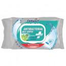 Servetele Umede Antibacteriene, Igienizante lemon, cu capac, 100 bucati Compact