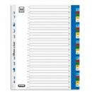 Index plastic color numeric 1-31, A4 XL, 120 microni, ELBA