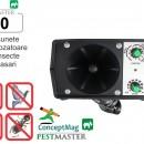 Aparat industrial cu ultrasunete impotriva pasarilor, insectelor si rozatoarelor - Pestmaster I40 - 400mp