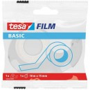 BANDA BIROU TESA BASIC TRANSPARENTA 10M X15MM + DISPENSER PLASTIC