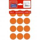 Etichete autoadezive color, D32 mm, 240 buc/set, Tanex - 4 culori asortate