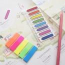 "Stick index plastic transparent color 42 x 12 mm, 5 x 25 file/set, Stick""n, 5 culori neon - sageata"