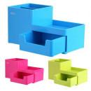 Suport birou Deli Rion 3 compartimente si sertar diverse culori