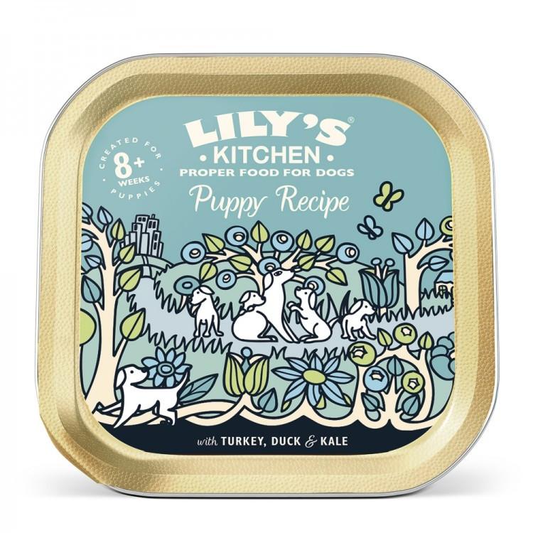 Hrana umeda pentru caini Lily's Kitchen Puppy Recipe Turkey & Duck 150g imagine