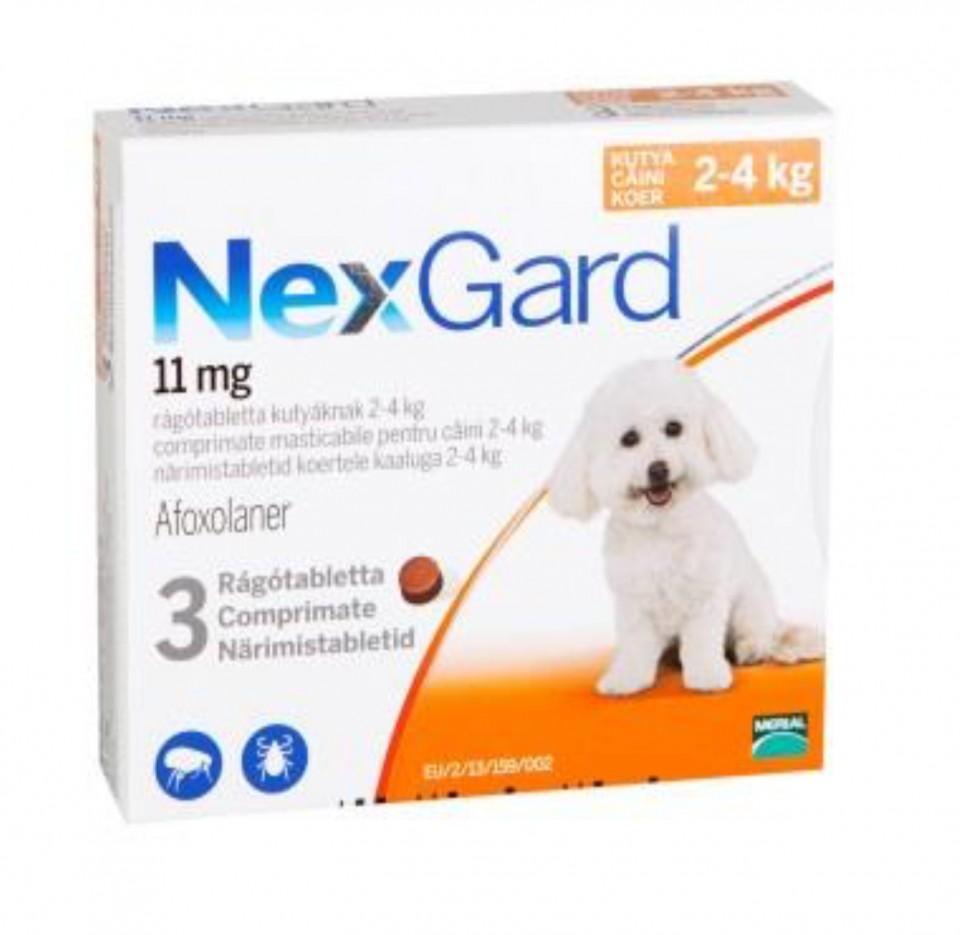 Nexgard S caini 2-4kg imagine